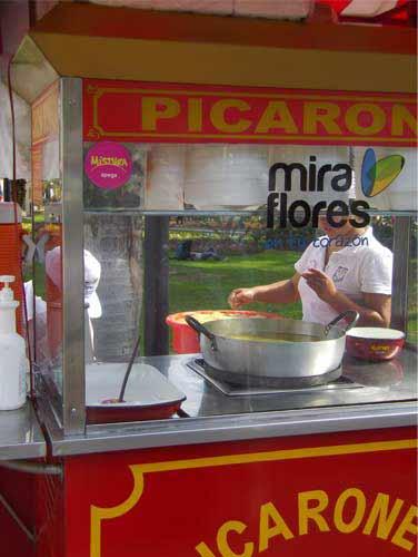 picarones cart in Mira Flores, Lima, Peru